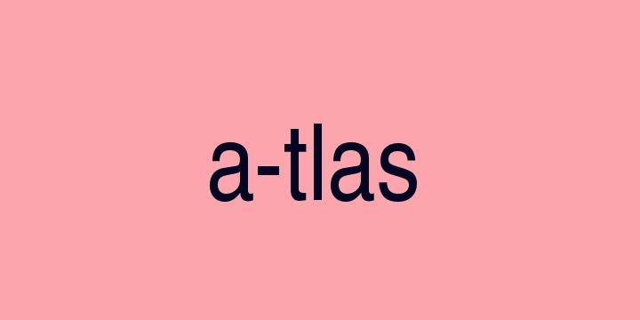 Separação silábica da palavra Atlas: A-tlas