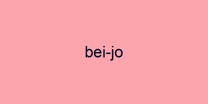 Separação silábica da palavra Beijo: Bei-jo