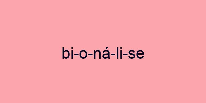 Separação silábica da palavra Bionálise: Bi-o-ná-li-se