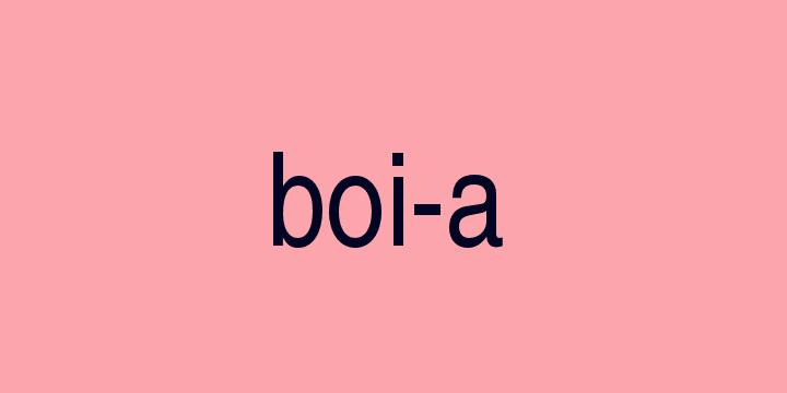 Separação silábica da palavra Boia: Boi-a