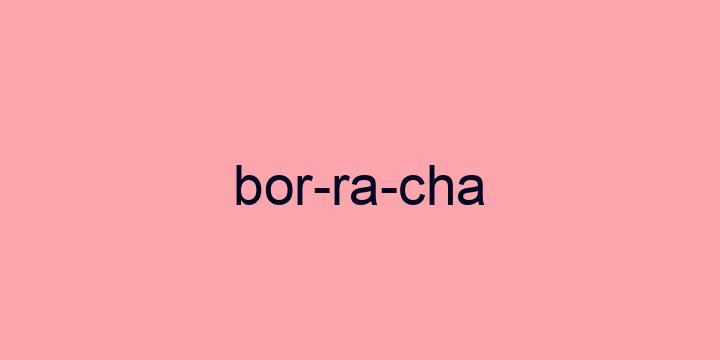 Separação silábica da palavra Borracha: Bor-ra-cha
