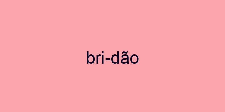 Separação silábica da palavra Bridão: Bri-dão