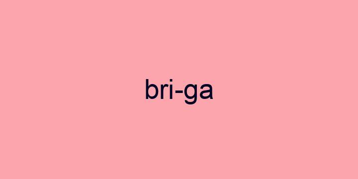 Separação silábica da palavra Briga: Bri-ga