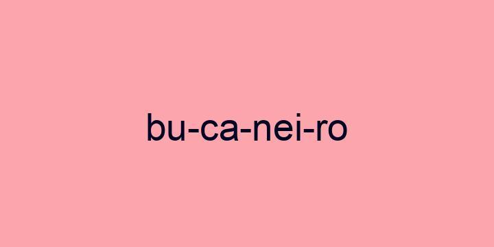 Separação silábica da palavra Bucaneiro: Bu-ca-nei-ro