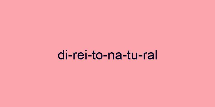 Separação silábica da palavra Direito natural: Di-rei-to-na-tu-ral
