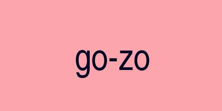 Separação silábica da palavra Gozo: Go-zo