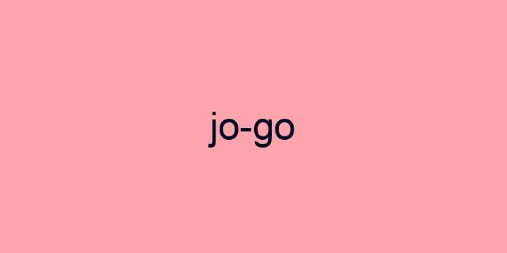 Separação silábica da palavra Jogo: Jo-go