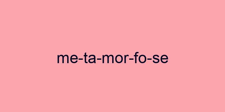 Separação silábica da palavra Metamorfose: Me-ta-mor-fo-se