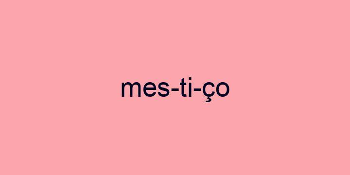 Separação silábica da palavra Mestiço: Mes-ti-ço