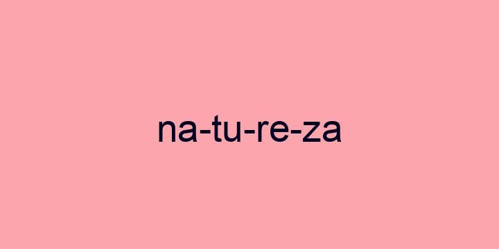 Separação silábica da palavra Natureza: Na-tu-re-za