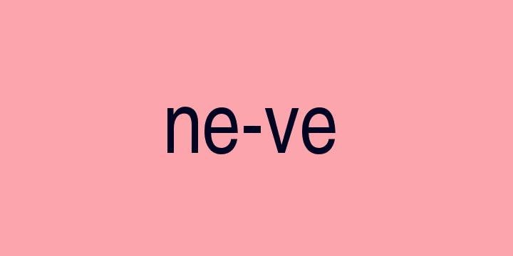 Separação silábica da palavra Neve: Ne-ve