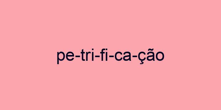 Separação silábica da palavra Petrificação: Pe-tri-fi-ca-ção