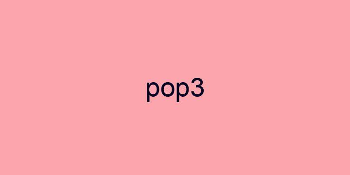 Separação silábica da palavra Pop3: Pop3