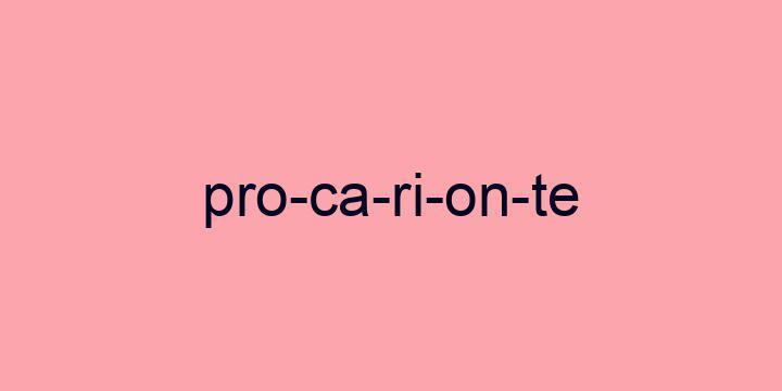 Separação silábica da palavra Procarionte: Pro-ca-ri-on-te