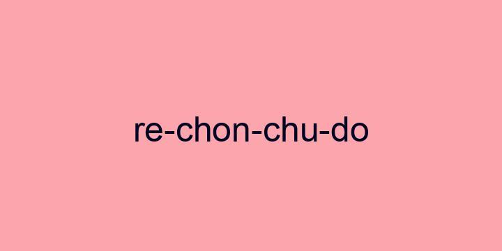 Separação silábica da palavra Rechonchudo: Re-chon-chu-do