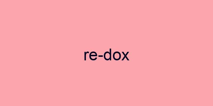 Separação silábica da palavra Redox: Re-dox