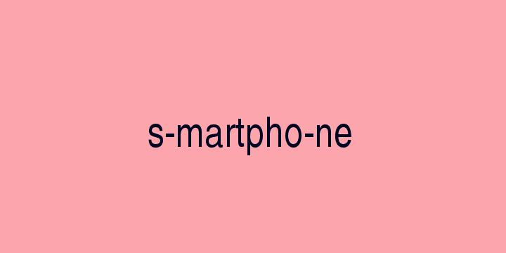 Separação silábica da palavra Smartphone: S-martpho-ne