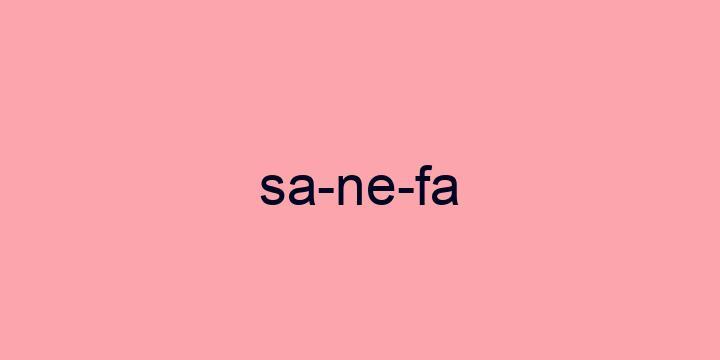 Separação silábica da palavra Sanefa: Sa-ne-fa