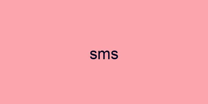 Separação silábica da palavra SMS: SMS