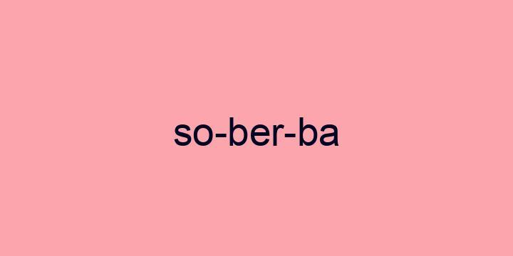 Separação silábica da palavra Soberba: So-ber-ba
