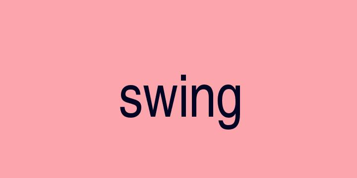 Separação silábica da palavra Swing: Swing
