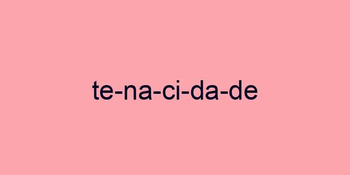 Separação silábica da palavra Tenacidade: Te-na-ci-da-de