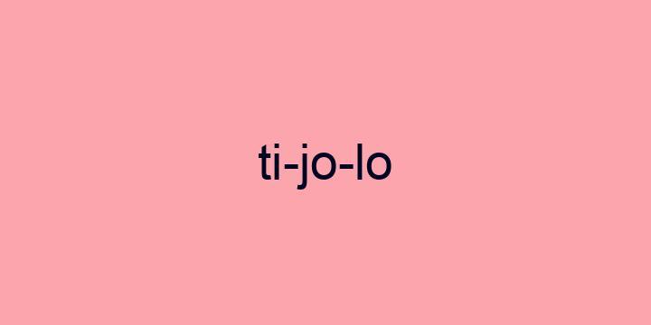 Separação silábica da palavra Tijolo: Ti-jo-lo