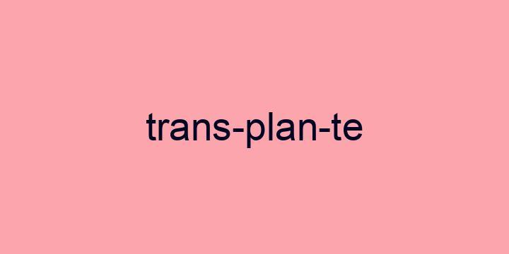 Separação silábica da palavra Transplante: Trans-plan-te