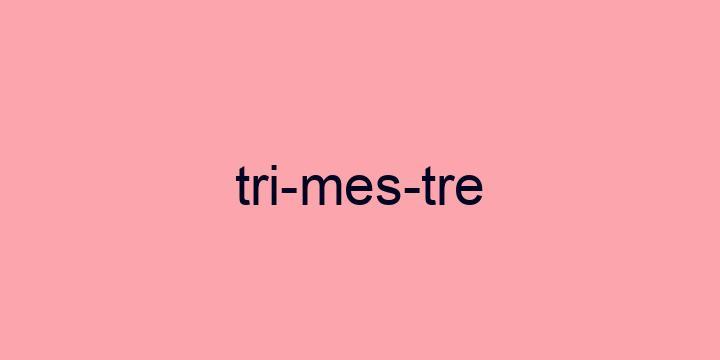 Separação silábica da palavra Trimestre: Tri-mes-tre