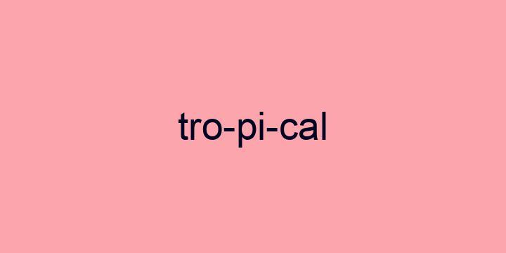 Separação silábica da palavra Tropical: Tro-pi-cal