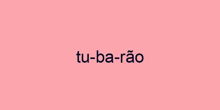 Separação silábica da palavra Tubarão: Tu-ba-rão
